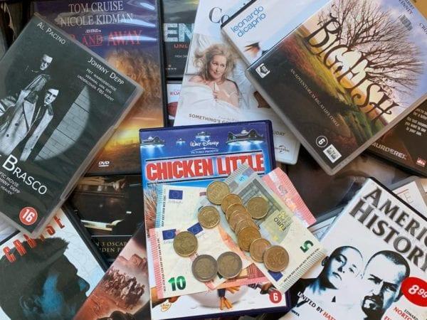 Cash voor uw dvd's