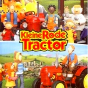 Kleine Rode tractor komt te hulp & op stap